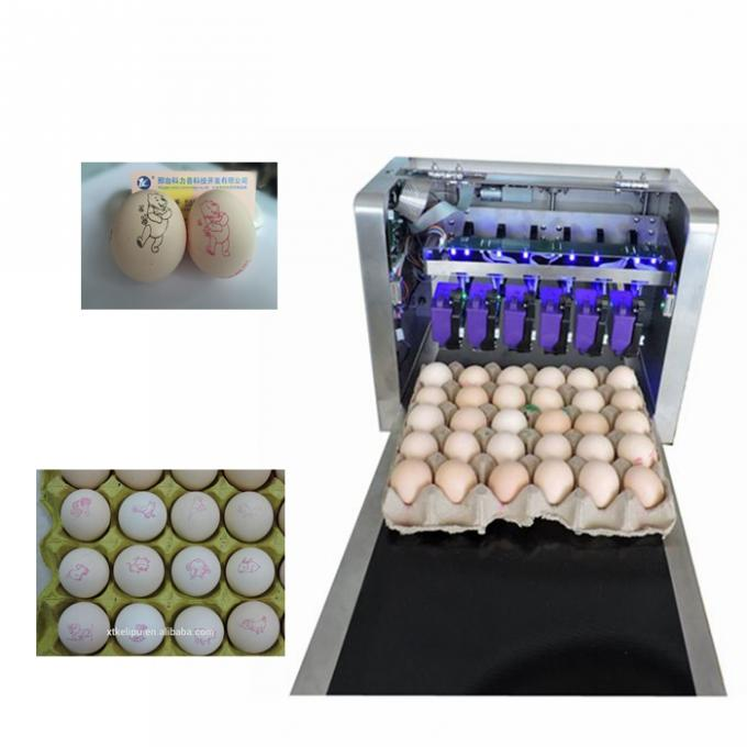 Batch Number Egg Industrial Digital Printing Machines With High Efficient