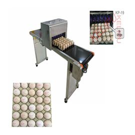 China Poultry Husbandry Egg Inkjet Marking Machine With 1mm - 9mm Printing Word Height supplier