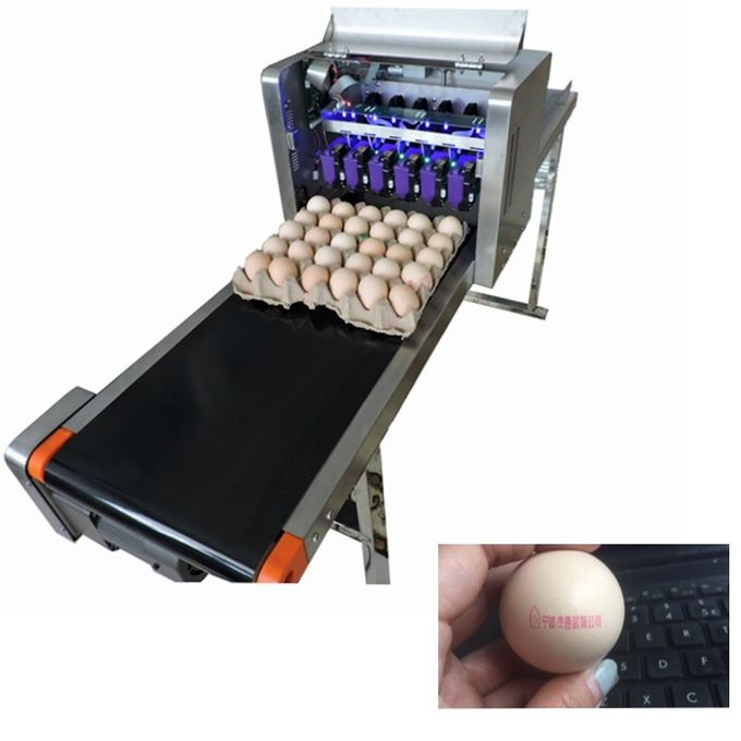 Multiple Nozzle Egg Batch Code Printing Machine With 0 - 5mm Printing Distance