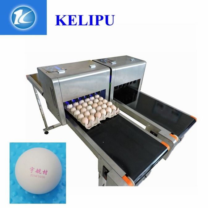 12V Automatic Batch Printing Machine Six Cartridge Can Print 1200,000 Eggs