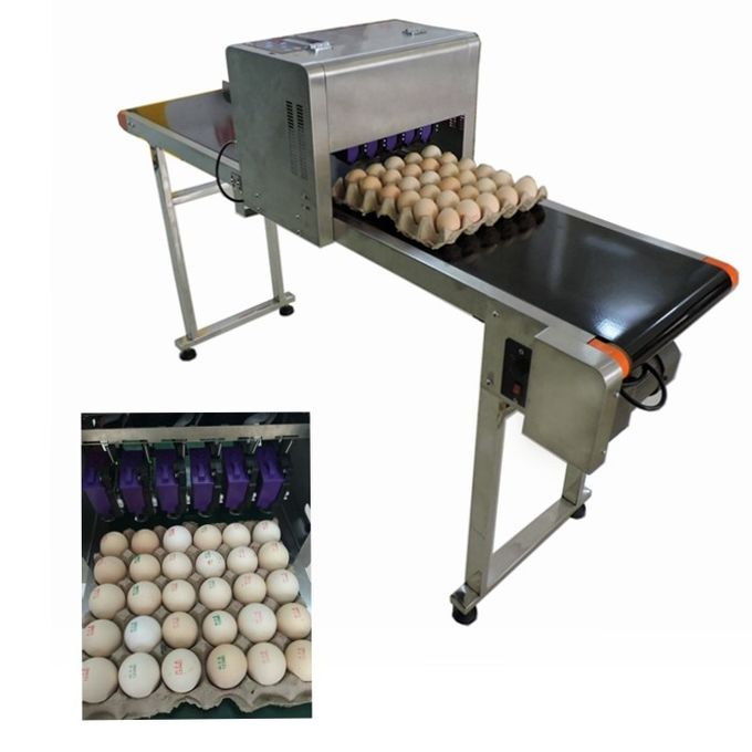 High Performance Egg Marking Equipment With 0 - 5mm Printing Distance